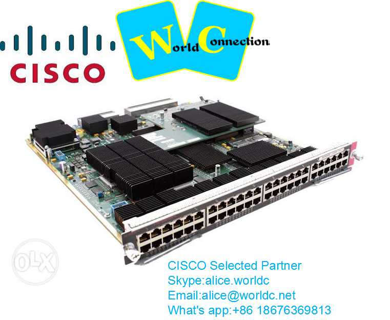 brandnew Cisco Catalyst 6500 48 port RJ45 Ethernet module,WS-X6748-SFP=