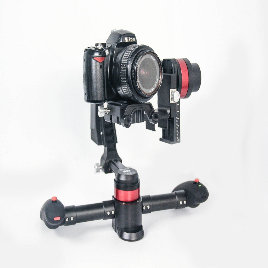3 Axis Handheld Brushless Stabilizer Gimbal DSLR Camera Mount Handle PTZ with Motor Controller