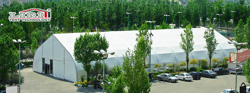 1000 People Curved Party Marquee for Parties and Weddings