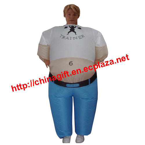 Inflatable Weight Trainer Costume