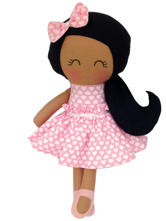 Lovely Stuffed Plush Baby Lovely Rag Doll Black Girl