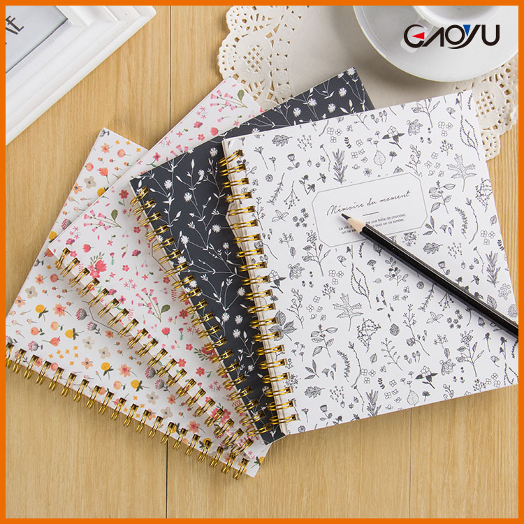 Wholesale customization thick journals blank hardcover spiral notebook