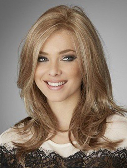 2017 Hot sell popular 130 density LIGHT GOLD BROWN color wave full hand tied lace wig