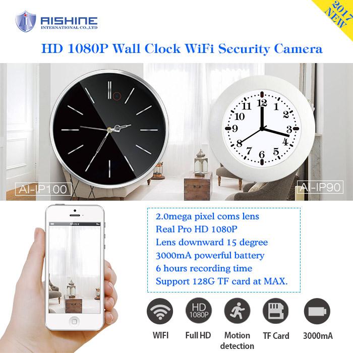 Hot Spy Camera Videos Wall Clock Security Wi-Fi Camera Hd H.264 DVR