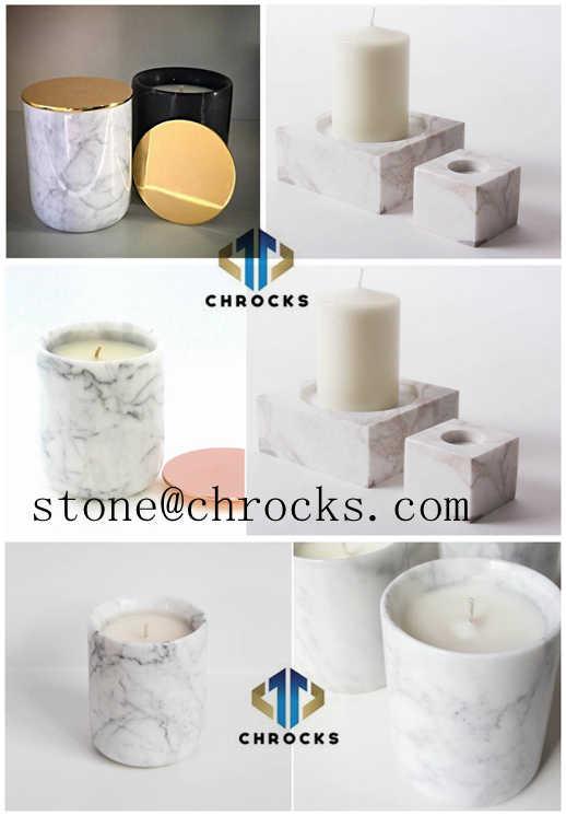 Crrara White Marble Candle Holder,White Marble HomeCndle Holder