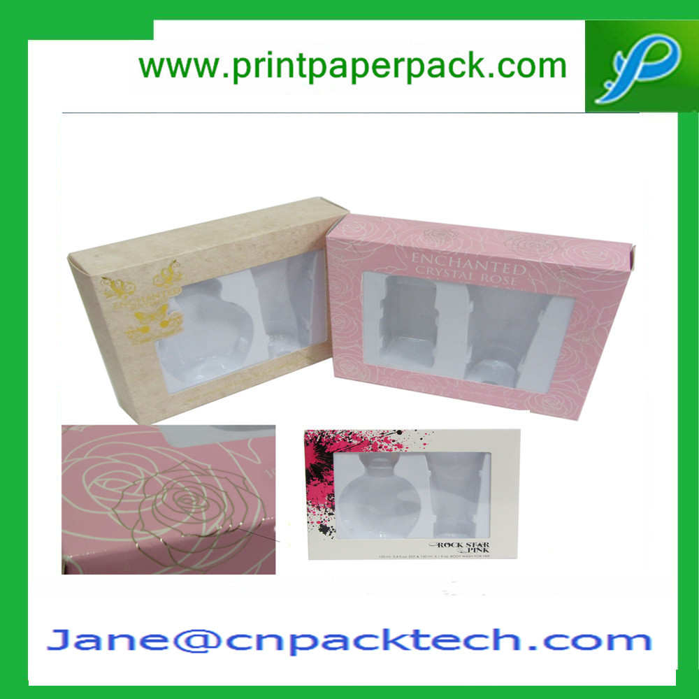 Customized Printed Perfume Box Paper Gift Packaging Box Window Box Cosmetic Box