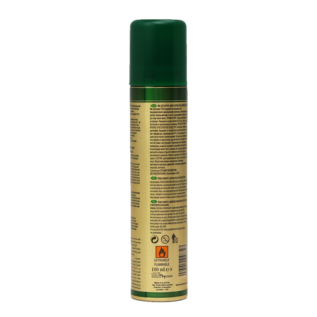 Feah Mega Firm Hold Hair Spray with Pro Vitamin B5 and Vitamin E, 100ml