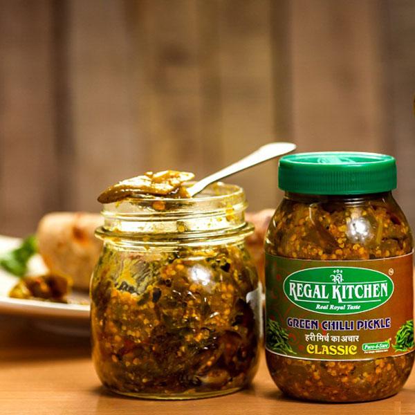Green Chilli Pickle (Classic) - 300g