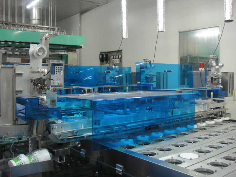 cup dispenser machine for sealing machine line