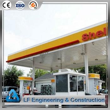 Steel building roofing prefabricated petrol station