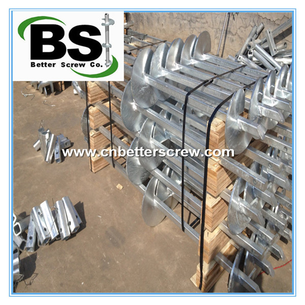 galvanized solid square shaft helical pile