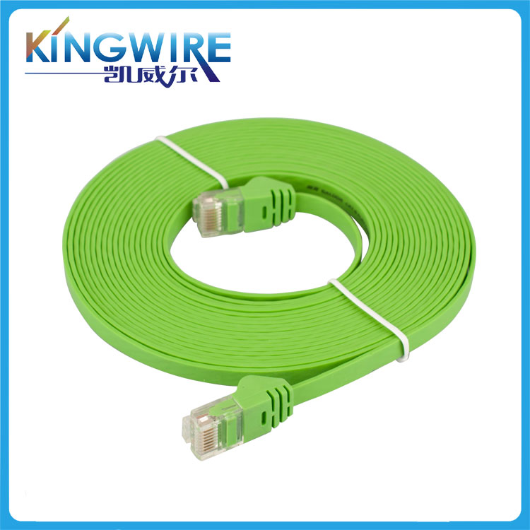 Factory Price UTP CAT5 CAT5E CAT6 RJ45 Male to Male flat Cable