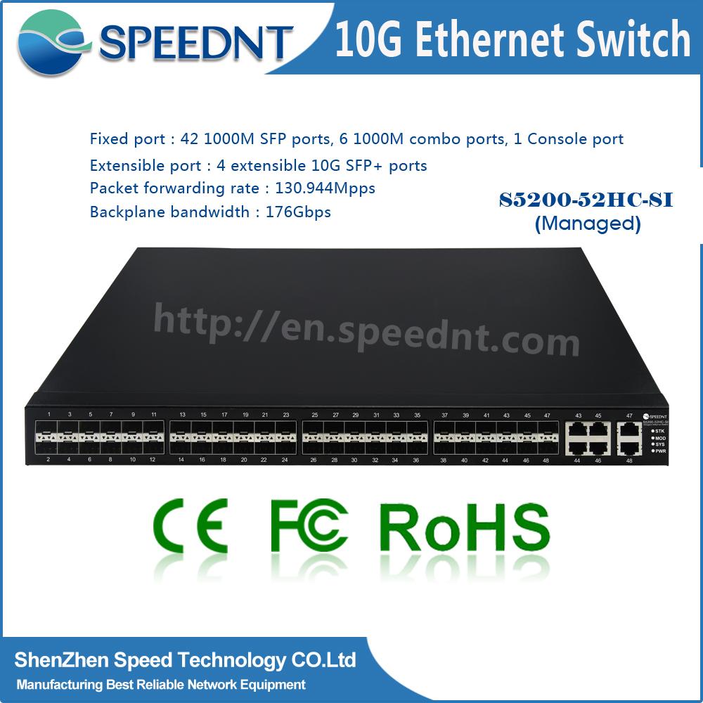 8port to 24 port 10/100/1000M/10G 48 port sfp switch Fiber Optic Network Switches