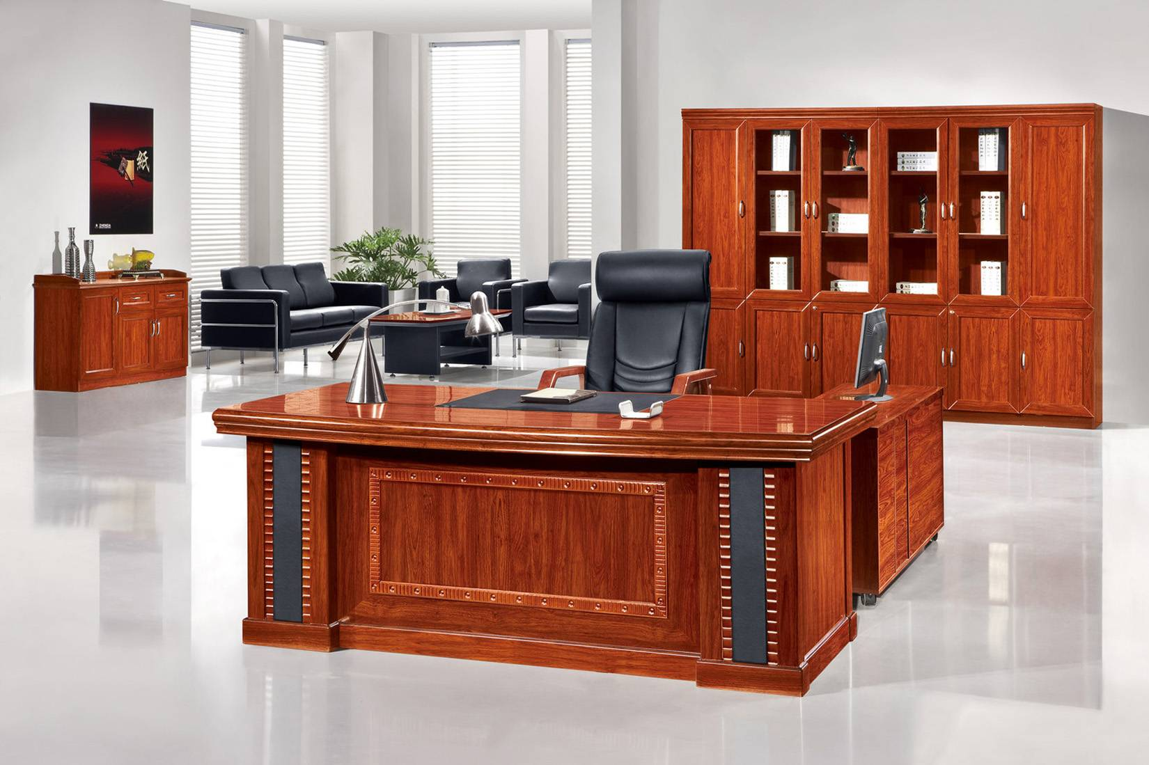 Classic Wooden Office Desk Foshan Zhenda Furniture Co Ltd