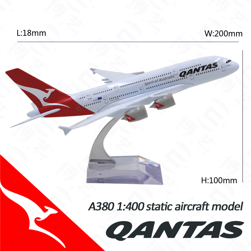 18cm Zinic Alloy High Replicas Plane Model Scale 1: 400 380 Decorative Model Aircraft for Display
