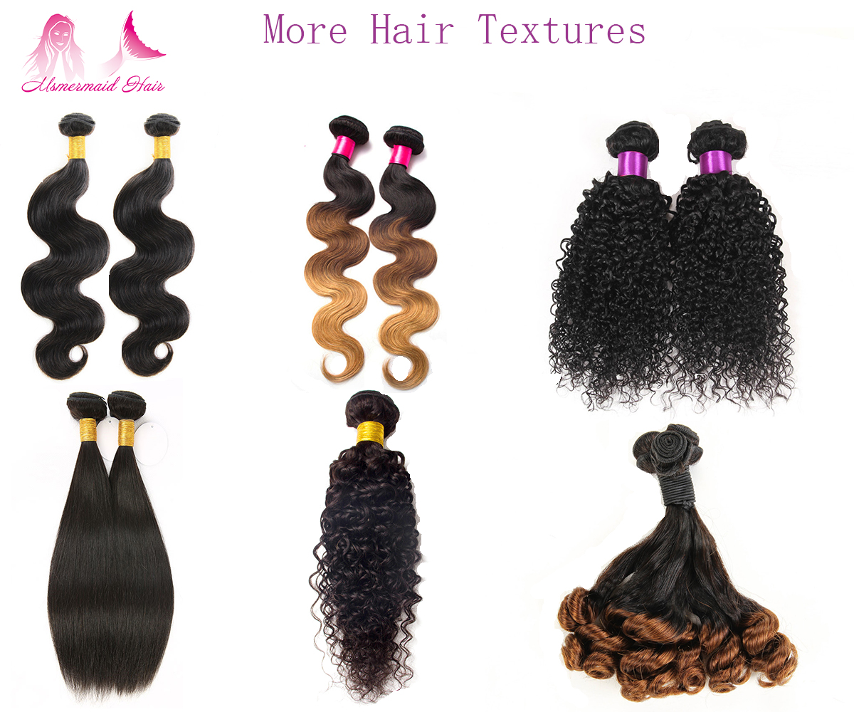 Double Drawn 9A Grade 100% Unprocessed Human Hair Extension
