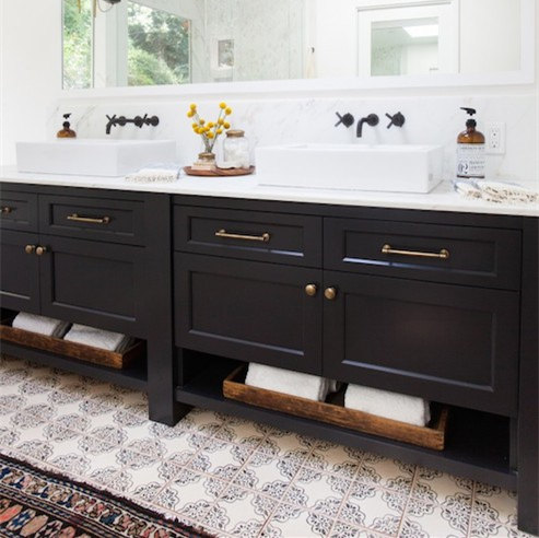 2017 Newly Modern Double Sinks Bathroom Vanities Cabinet