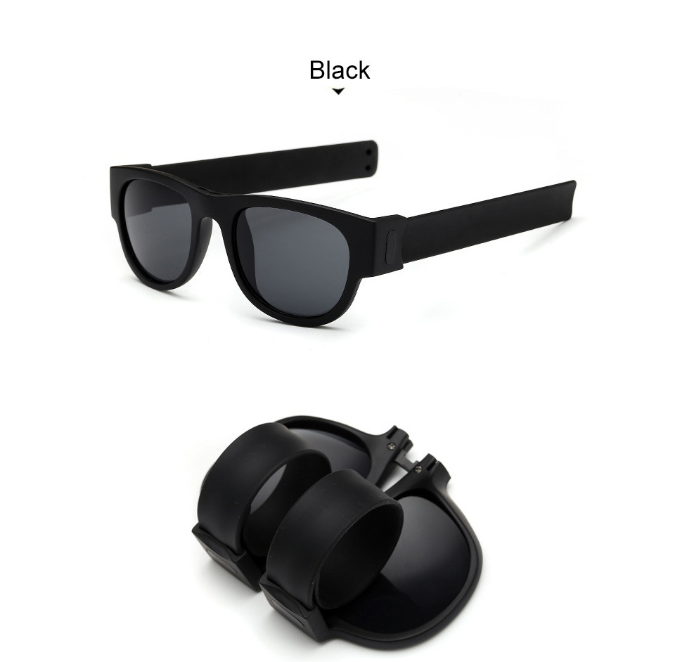 Fashion silicone slap band sunglasses