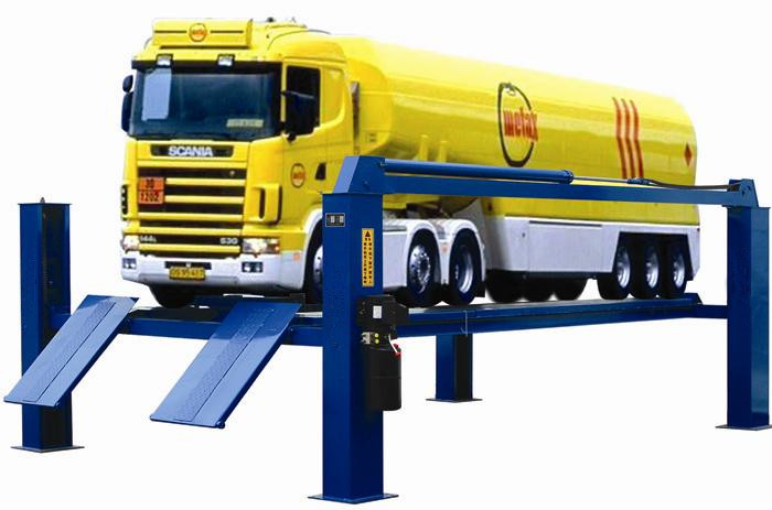 8/10/12/15/16 TON hydraulic four post lifter for large vehicles