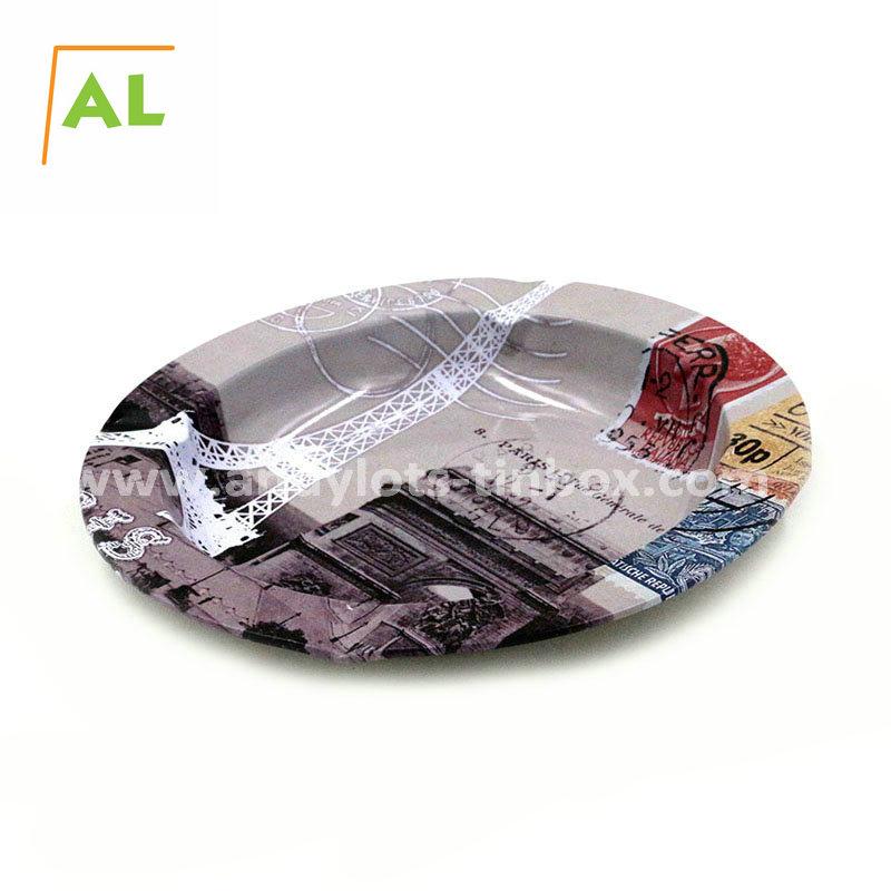 Wholesale Tin Serving Round Shaped Anti Slip Bar Beer Tin Tray
