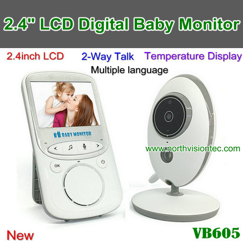 "VB605, 2.4G Digital Baby Monitor, 2.4"" LCD,2-Way talk, Multiple language,Voice Trigger, Nightvision"