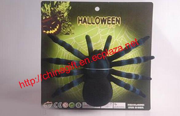 Halloween flocking spiders