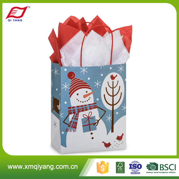 Hot sale new creative personalized recyclable paper shopping bags