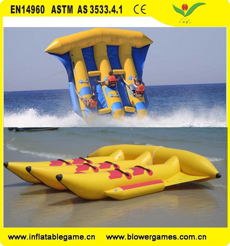 Water towable tubes Inflatable flying fish boat