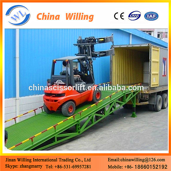 Portable Unloading Ramp Container Loading Equipment
