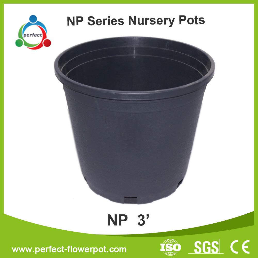Wholesale nursery containers,black flower pots,plastic pots