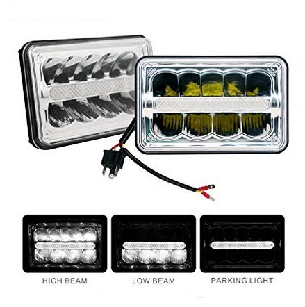 "4x6"" Hi/Lo Beam 5inch Truck Headlight with DRL"