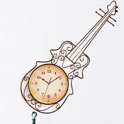 Gift For Musician Musical Instruments Kitchen Wall Clock Art Music Piano Guitar Home Décor