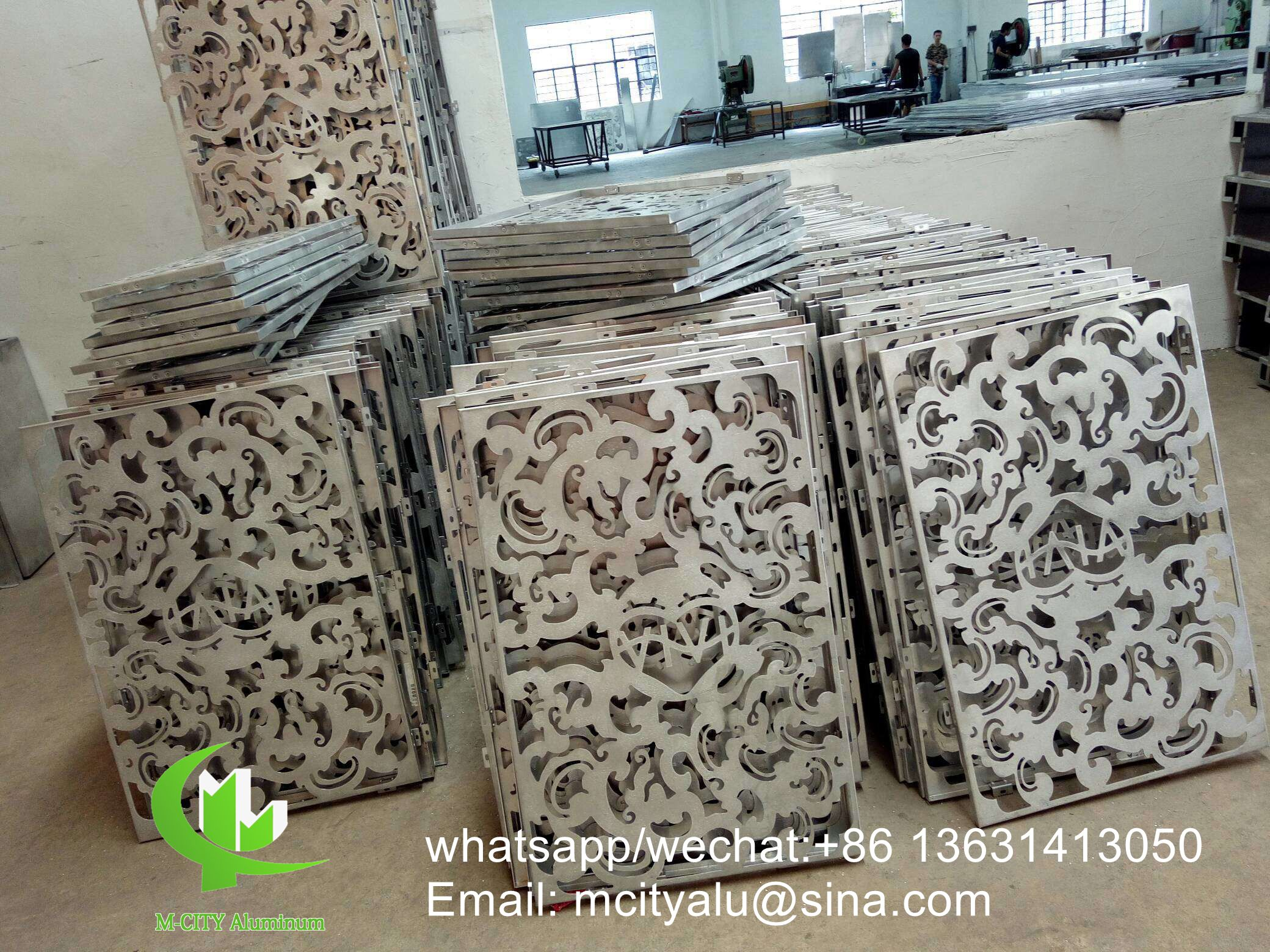 Aluminum perforated cladding panel for wall