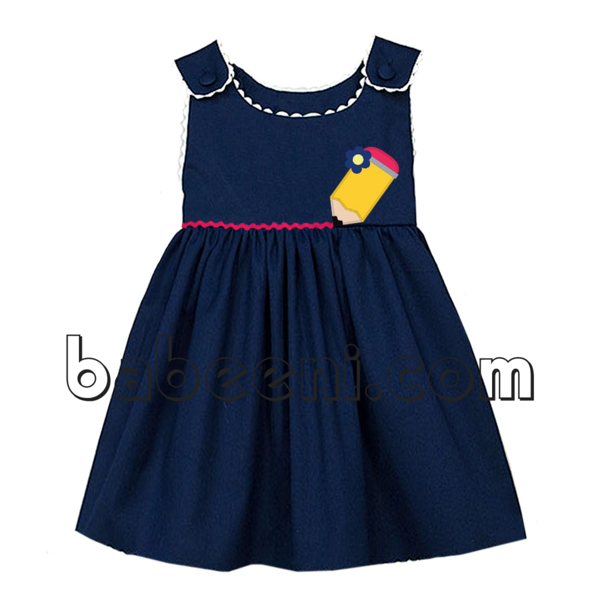 Lovely pencil applique dress - DR 2498