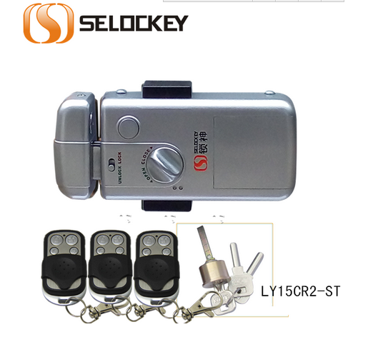 Mechanical key with Remote Control for wooden lock solenoid(LY15CR2-ST)