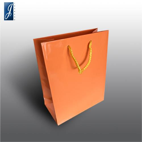 Currency small orange paper bag