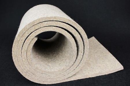 nature white 100% wool felt for industry use