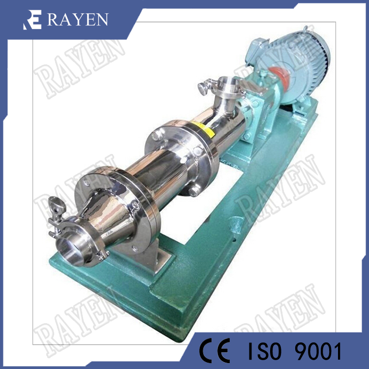 Stainless steel rotor single screw pump