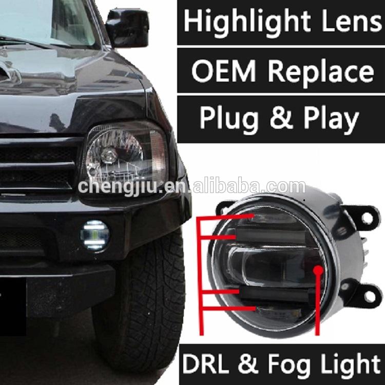 New design DRL Daytime Running Light + Fog Light For Car Auto Suzuki Jimny /Swift led fog light