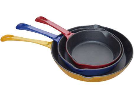 Cast iron non-stick cast iron grill/fry pan