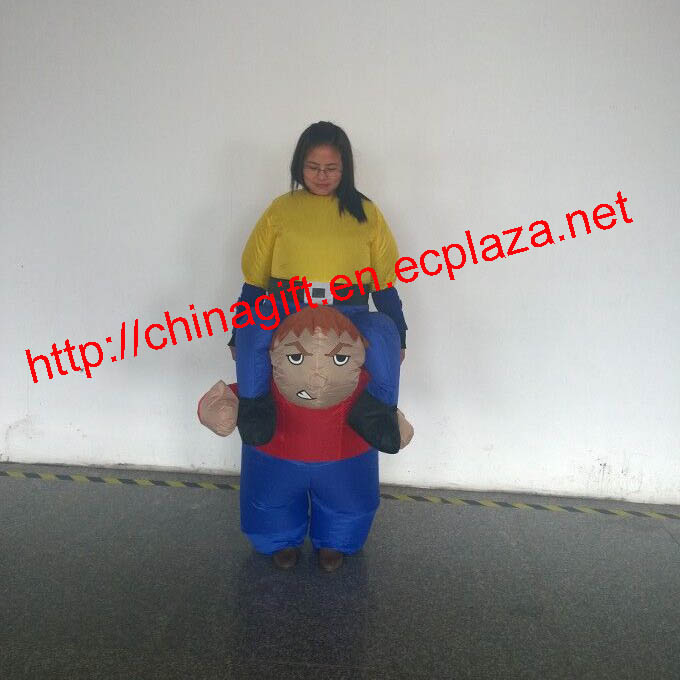 150cm inflatable strength boy costume