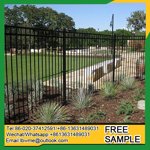 Pittsburgh wrought iron railing New York ornamental picket fence factory price