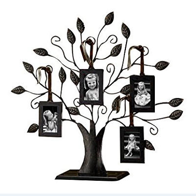 Metal Family Tree Picture Photo Frame With 4pcs Hanging Frame For Home Décor