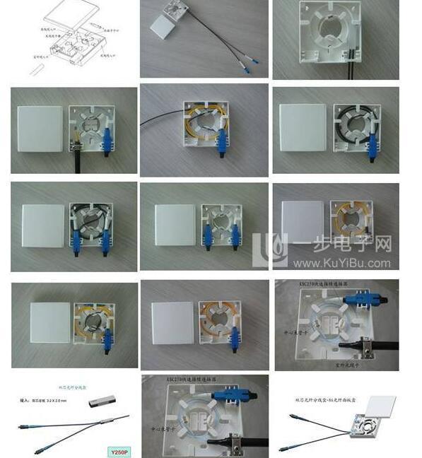 FTTH terminal box 2 core / wall outlet box FOTB-02