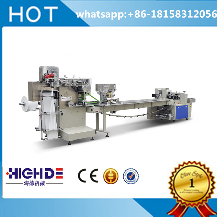 multi-function napkin and disposable cutlery automatic packing machine