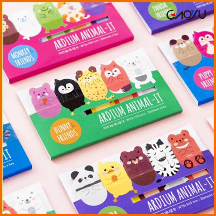 Bookmark tab cute animal shaped memo sticky Page Markers notes