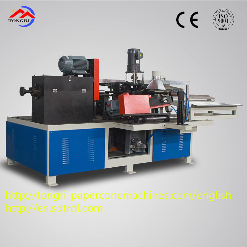 High speed lower waste paper rate after finishing machine for paper cone production