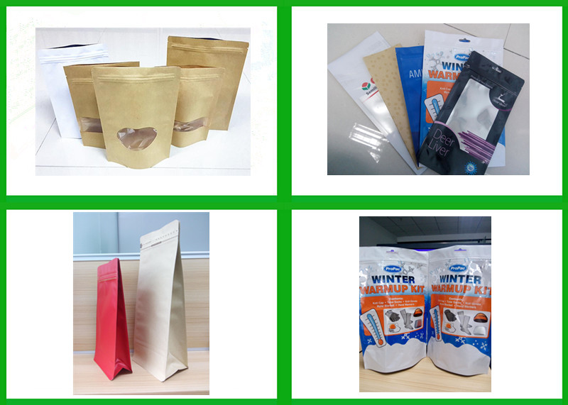Resealable Stand Up Front Clear Anti Static Aluminum Foil Bag