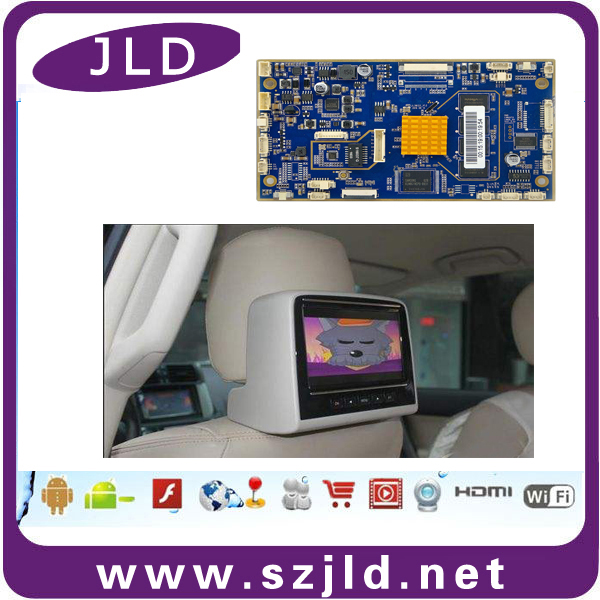 Factory supply android circuit board for car vod headrest with usb support 4g module network
