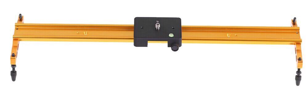 60cm Video Track Slider Dolly Track Rail Stabilizer Aluminum Alloy for Canon Nikon Sony Gold Color
